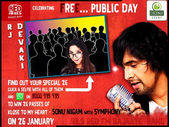 Never before Offer  Win 26 passes free of Sonu Nigam Concert