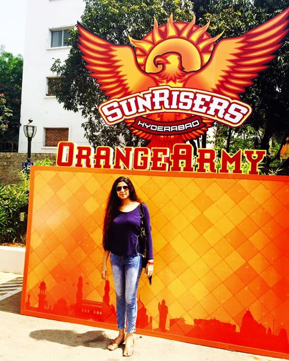 In hydrabad all set to support #OrangeArmy  On my way to the stadium