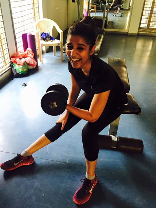 Happy work out session with my trainer.... Laughter is the best abs exercise I guess 😉😉😉