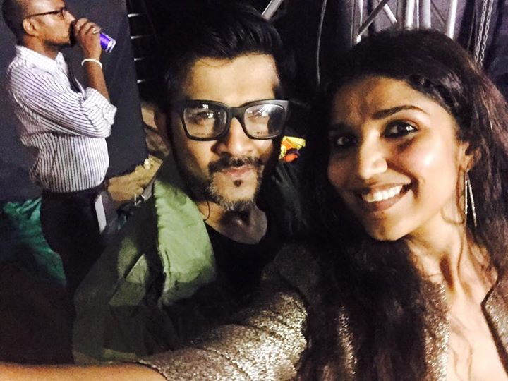 Sachin–Jigar Sachin-Jigarin #Ahmedabad with me live in concert n #DivyaKhosla the awesome singer