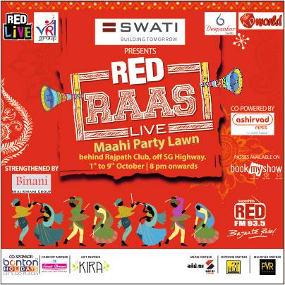 Launched Swati Procon presents #RedRaas7 on Red FM  Bonus Tracks:  #ORangRasiya watch this #RedRaas7 in the upcoming guj film Shubh Aarambh  #GoriRadhaNeKaloKaan watch this #RedRaas7 in currently running superhit gujarati film Wrong Side Raju  #PokemonNoGarbo written by Tushar Shukla the poet and composed by Meghdhanush   Share this image n win the CD of RedRaas7