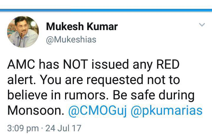 There is no red alert. Don't spread rumours.