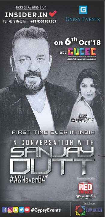 Get ready catch Sanjay Dutt in conversation with me like you've never heard him before. Watch the star spill secrets about his life, career, his struggle with drugs and yes - even his connection with the underworld and many more things that didn't get covered in his biopic.. Book your tickets now on INSIDER Brough to you by Red FM and GypsyEvents