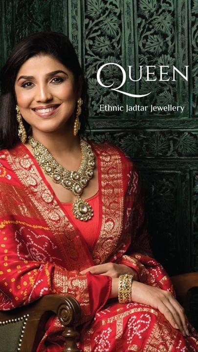 #KKJewels introduces my signature collection #Queen   Signed / autographed by me    #IndiakiRani #AhmedabadKiRani   Buy the most royal #Jadtar from my collection n feel like a #Queen   Feel like me 😘😘😘  p.s. Did u see these new hoardings? Where?