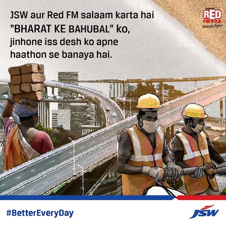 Watch out for the 'Bharat Ke Bahubal' song releasing tomorrow only on Red FM JSW Group #BetterEveryDay