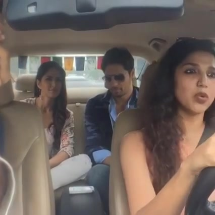 Devaki Ka #CarOBar  Katrina Kaif n Siddharth P Malhotra in Ahmedabad in my car traveling for Red FM Tashanbaaz
