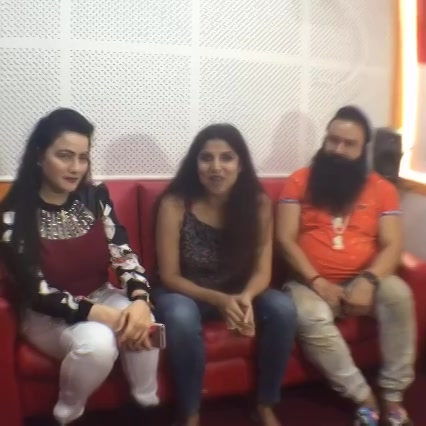 #MSG RaamRahimSinghJiInsaan in Red FM Ahmedabad New Office, 1St Guest