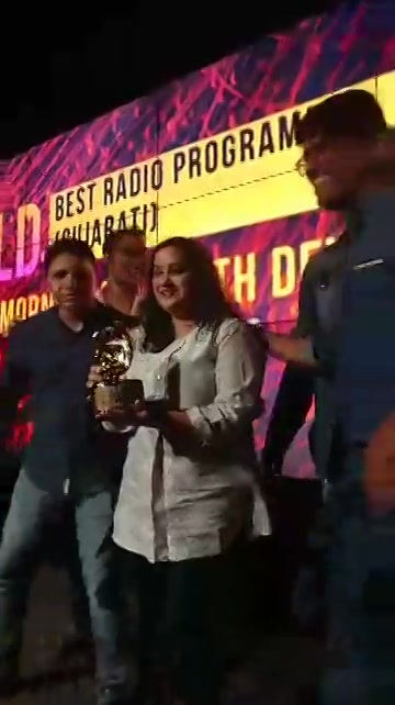 Here is how team Red FM celebrated our award in Delhi today # Best radio programme #Gujarat