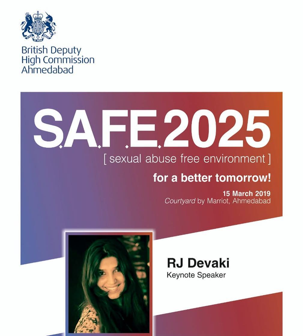 Excited to be the #KeynoteSpeaker for @ukinindia #BritishDeputyHighComission for #SexualAbuseFreeEnvironment  #bajateraho #WomenSafety #Women #Gujarat #Ahmedabad #India #IndianWomen #Speaker #GlobalTalk #GlobalCitizen #britishhighcommission