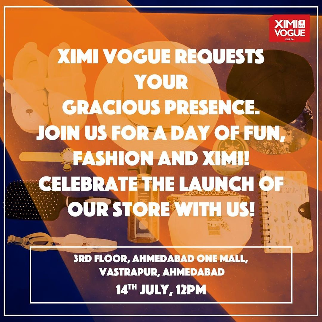 Join me on the 14th July at 2 pm where I inaugurate a brand new Fast Fashion Store #XimiVogue #Fun #Prizes #MeetAndGreet #RJDevaki