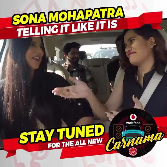 My kickass drive with the kickass  singer don @sonamohapatra on @redfmindia n @rjdevaki Facebook page tomo out #VodafoneCarnama
